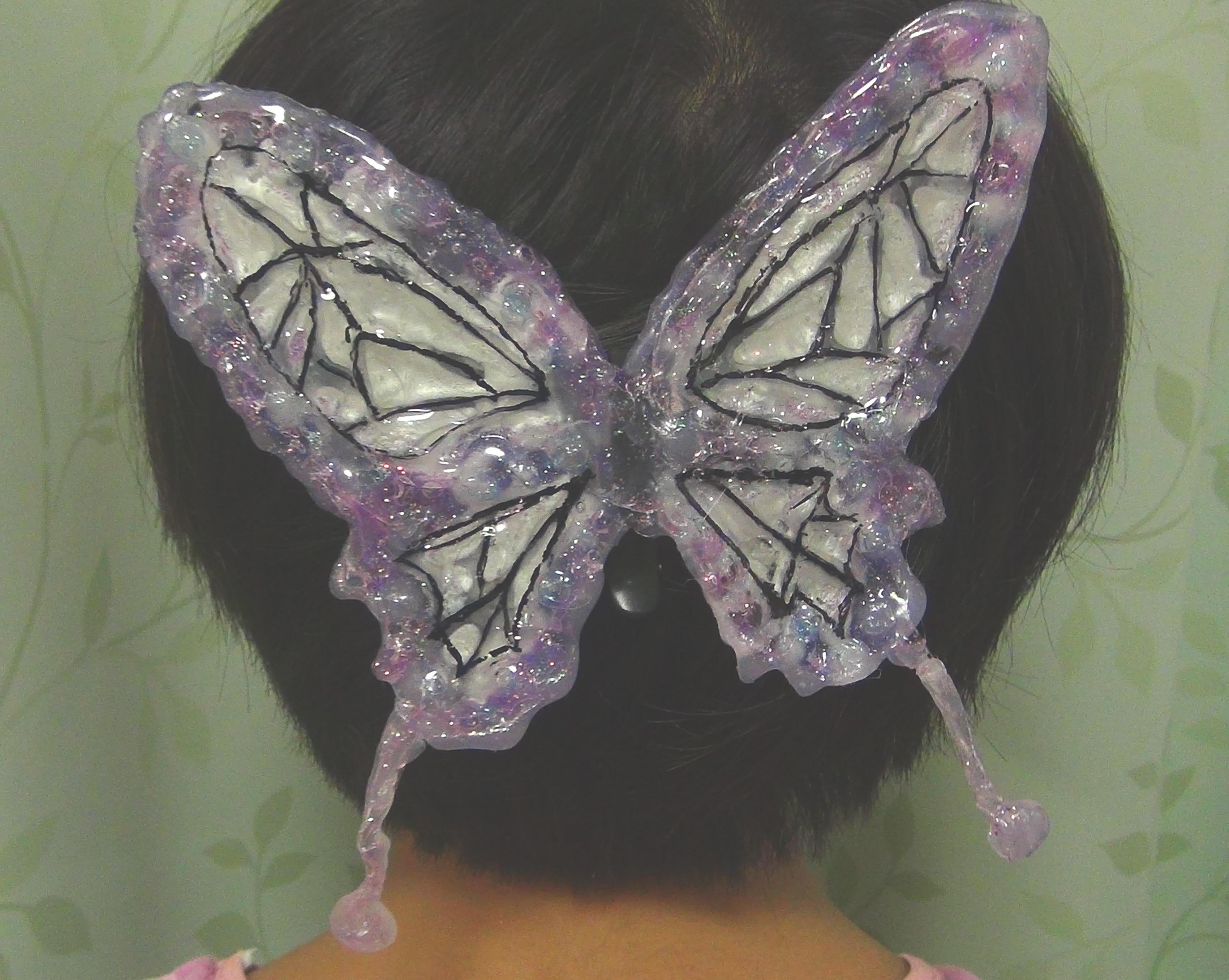 鬼滅の刃!!胡蝶しのぶちゃんの蝶の髪飾りの作り方!動画作成