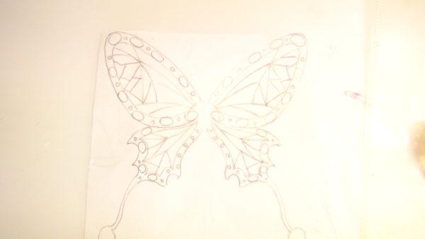 蝶の下書き