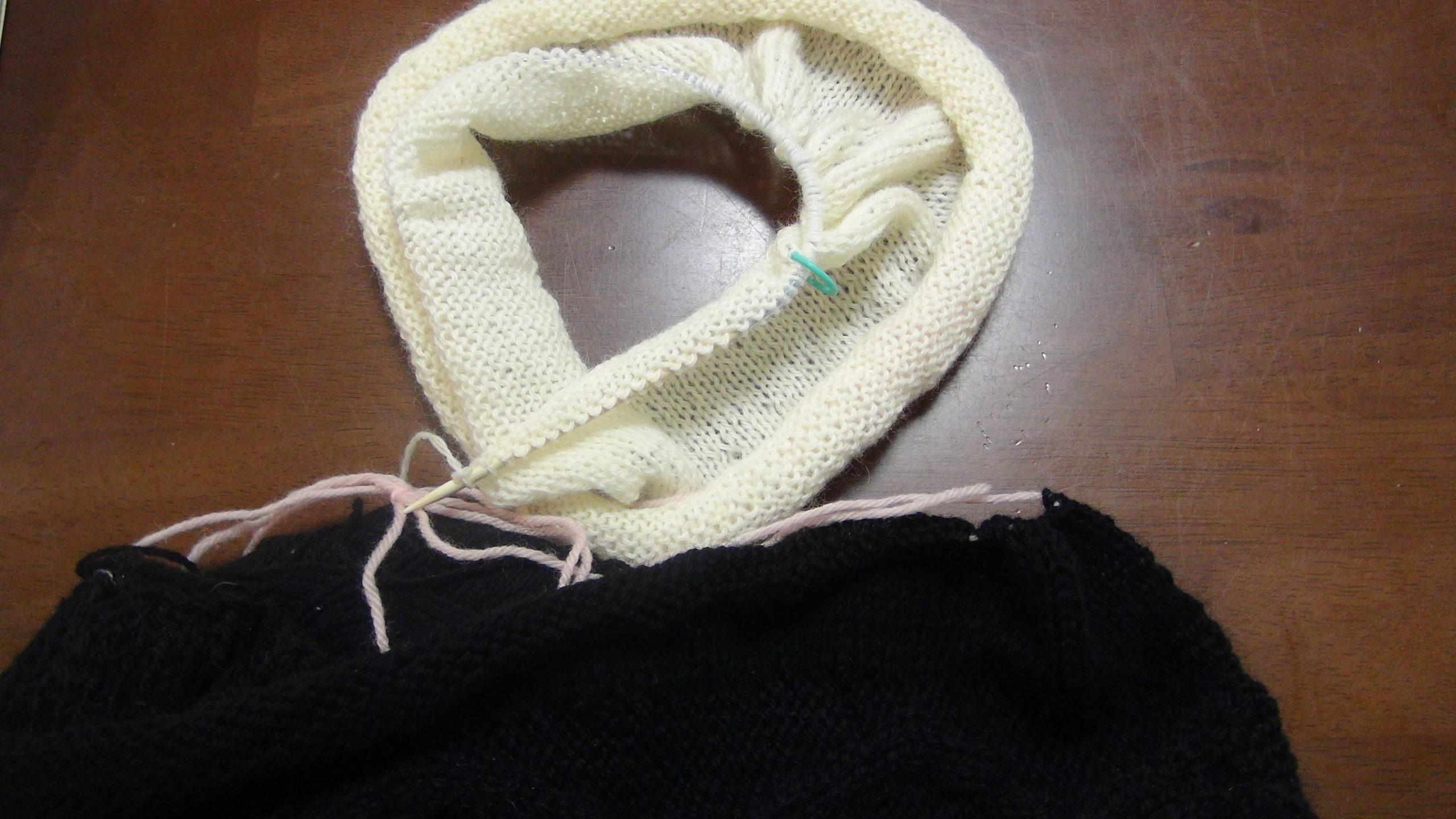 メリヤス編み終了